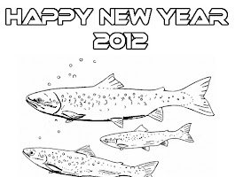 Happy New Year Dog Coloring Pages