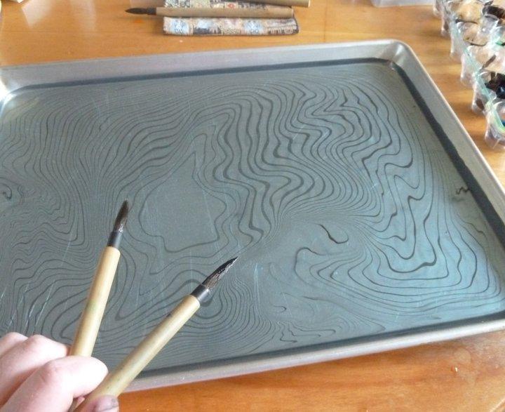 Как в домашних условиях сделать мраморную бумагу
