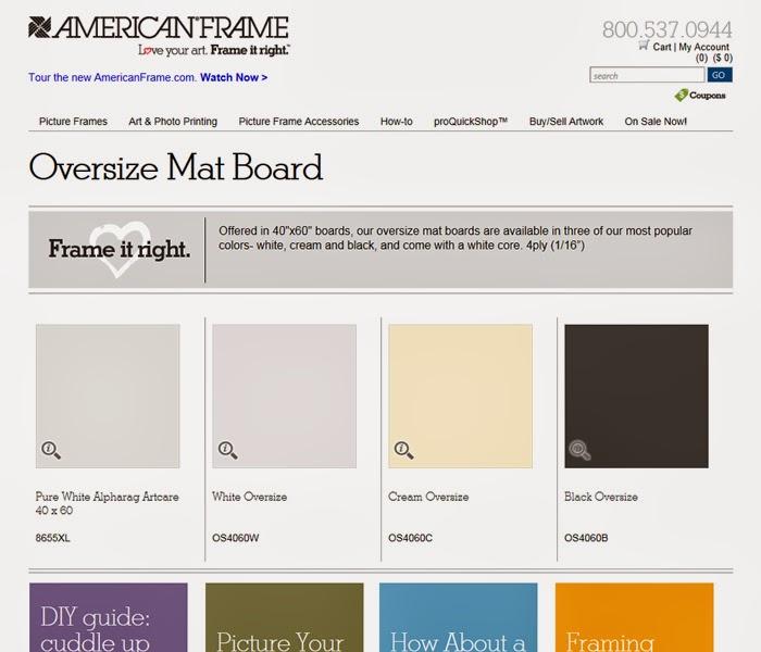 Picture Framing Blog - A Good Frame of Mind: Oversize mat board is ...