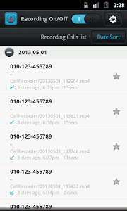 Automatic call recorder by Travel diary available on google playstore