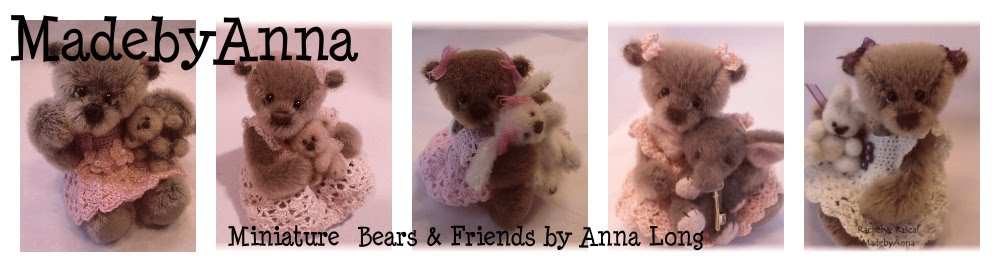 MadebyAnna Miniature artist bears by Anna Long