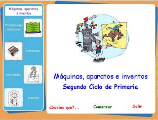 Máquinas aparatos e inventos.