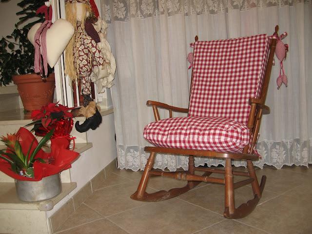Casa francesca un nuovo vestito per la mia sedia a dondolo - Cuscino per sedia a dondolo ...