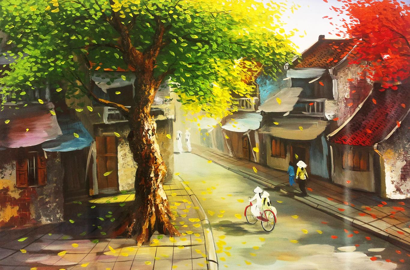 tranh sơn dầu phong cảnh đẹp ấn tượng