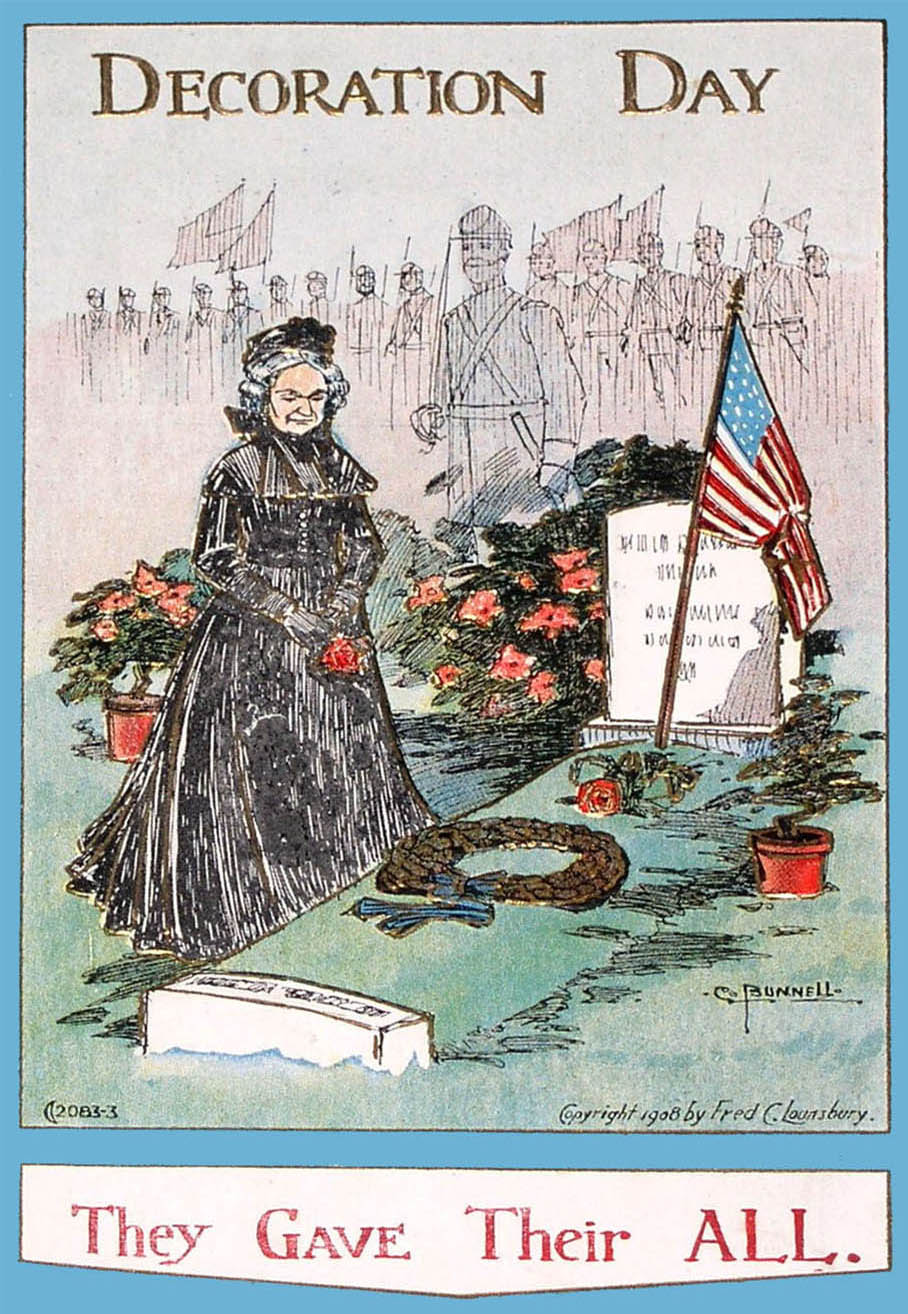 The history of memorial day for Decoration day