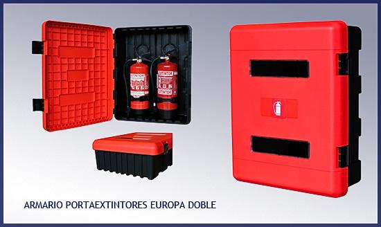 Armario extintor EUROPA para dos extintores de 9/12 Kgs.