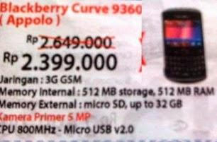 Harga BB Curve 9360