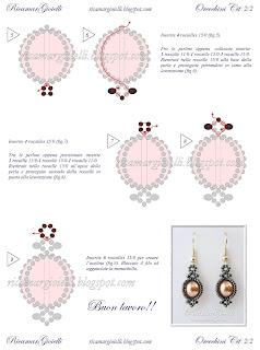 TUTORIAL Orecchini Cit realizzati con perle 8mm e rocailles 11/0 e 15/0 - Ricamar Gioielli