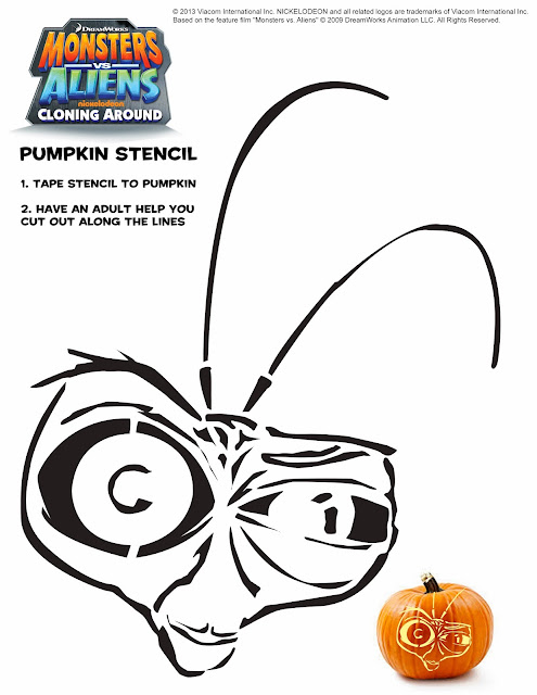Dr. Cockroach Pumpkin Stencil #spon