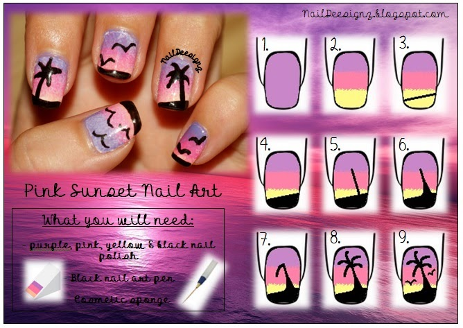 http://naildeesignz.blogspot.co.uk/2013/08/ombre-tropical-sunset-nail-art.html