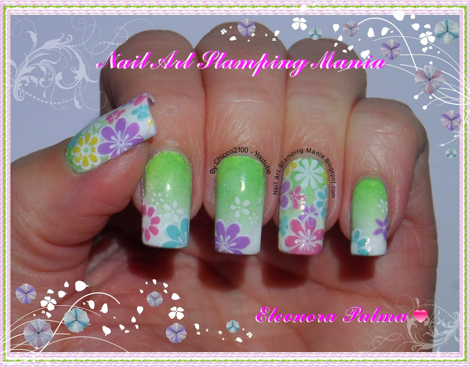 Nail Art Stamping Mania: Stamping Decal With Konad Plate m100