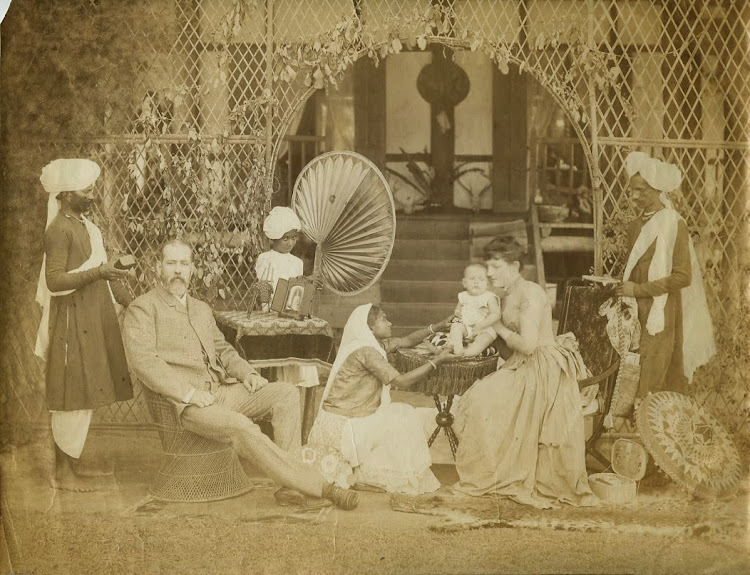 European Family with Indian Servants - c1880's