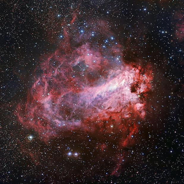 Star-Forming Region M17 – The Omega Nebula