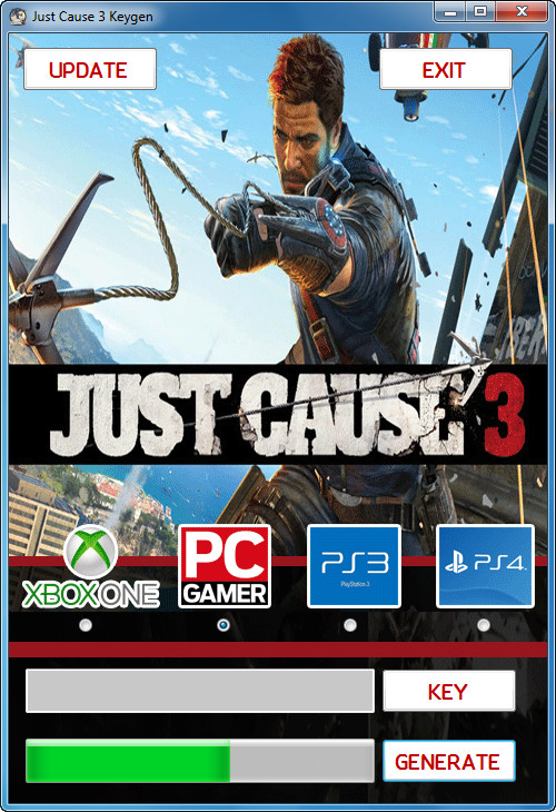 product key of the product just cause 3