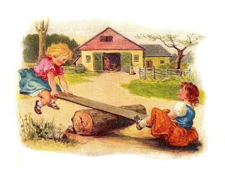 girls nursery rhyme clip art