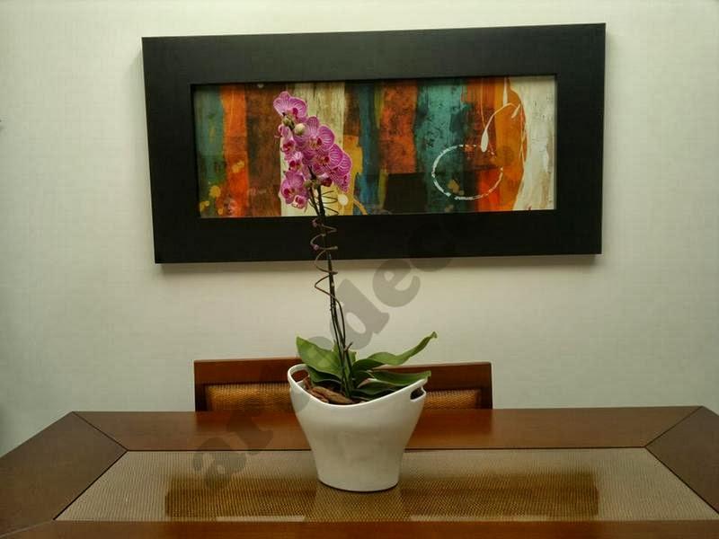 Fotos De Telas Para Sala De Jantar ~ artedecor sala de jantar decorada com lança quadros abstrato