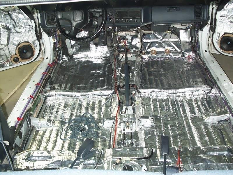 طريقة تركيب أرضية جلد للسيارة و عوازل الصوت صيانة السيارات
