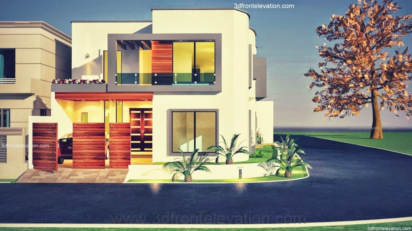 Front Elevation Of 7 Marla Houses : D front elevation marla plot modern