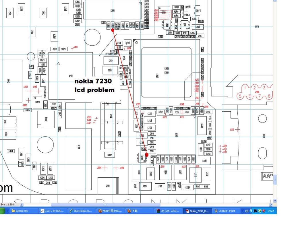 nokia 7230 display light problem