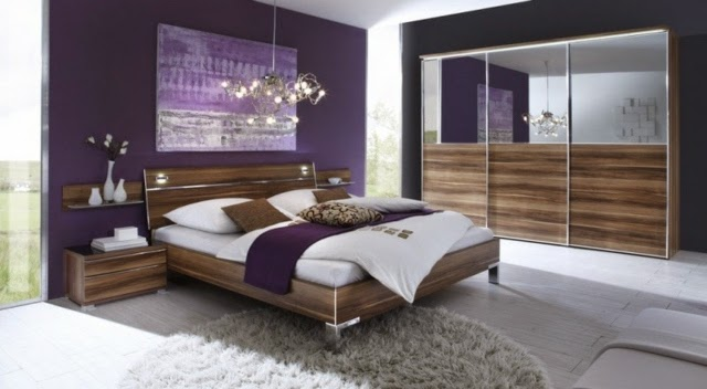 purple bedroom color schemes purple accent paintings