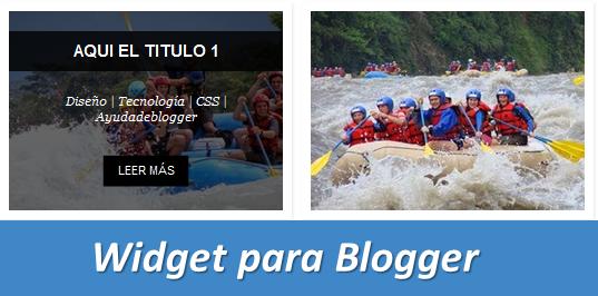 Widgets para Blogger – Galería de imágenes nuevos estilos V4