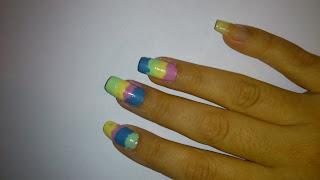 """Tutorial Unha Artística Arco-Íris """"Nail Art Arco-Íris"""""""