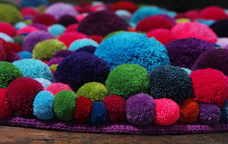 Design Curves: Pom-pom rug by MYK