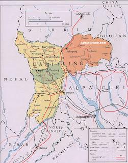 Darjeeling Map
