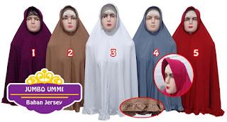 jilbab ukuran jumbo dari bahan jersey