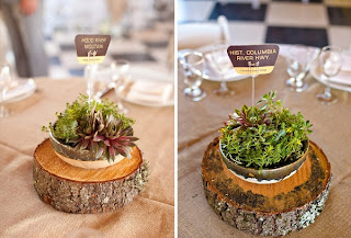eco wedding centerpiece