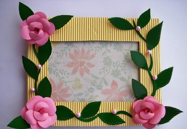 Famoso handmade photo frame craft project ~ easy arts and crafts ideas WK31