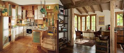 estilo rústico en pintura y madera