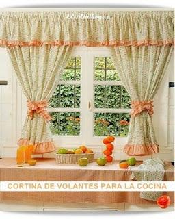 Cosas para tu hogar cortina para la cocina for Cortinas de cocina rusticas