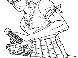 Anime Line Art Coloring Pages