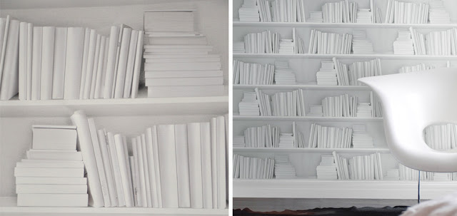 Young & Battaglia white bookshelf wallpaper