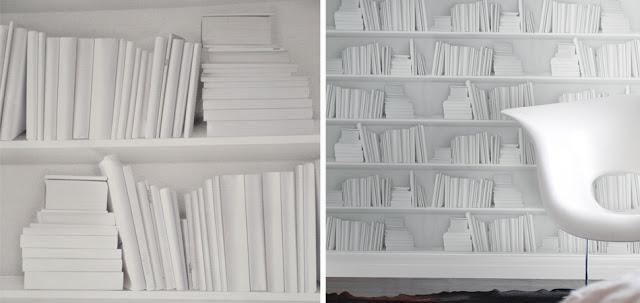 Young & Battaglia white bookshelf wallpaper