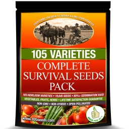 Survival Seed Vault, Grow for it, emergency seeds, complete survival seeds