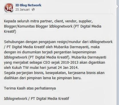 Idblognetwork (PT.Digital Media Kreatif) Berganti Pemimpin