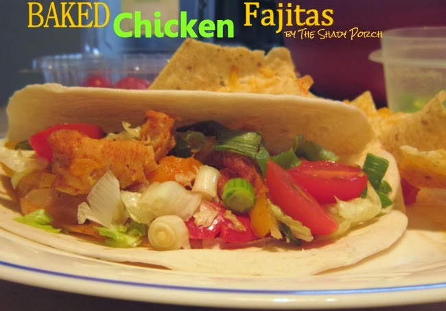 Baked Chicken Fajitas #Mexican #Fajitas #Entree #Main #Dinner