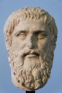 Cópia em mármore do busto de Platão Musei Capitolini