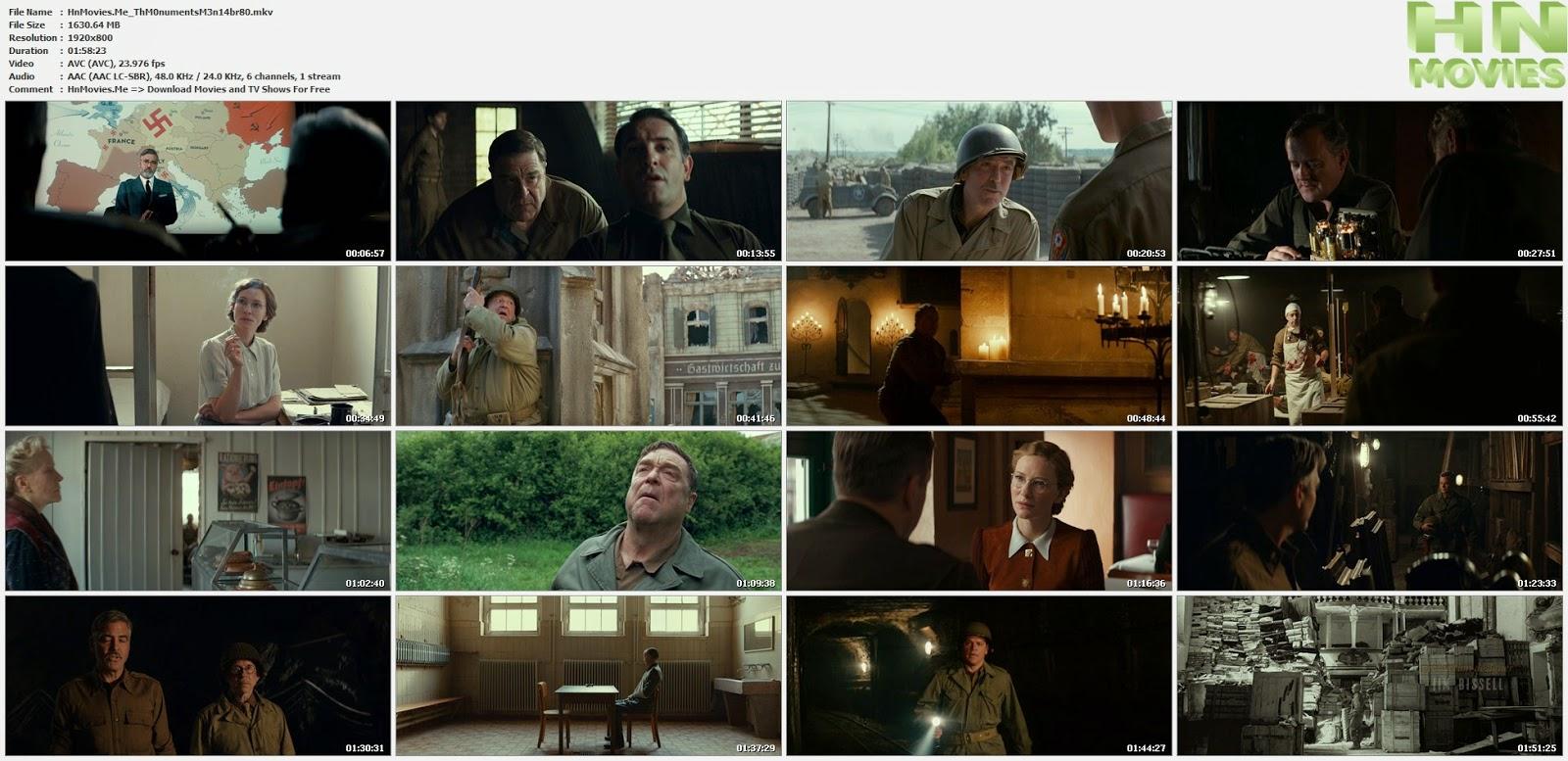 movie screenshot of The Monuments Men fdmovie.com