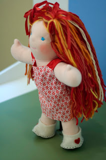 bamboletta waldorf doll dragonflys hollow felted shoes custom redhead natural toy