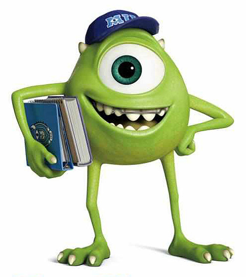 Meet the Students and Faculty of Monsters University  Batch 1 Monsters University Characters Mike