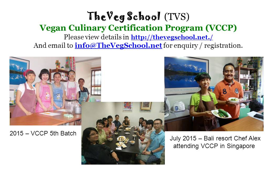 2015 Vegetarian Culinary Certification Program