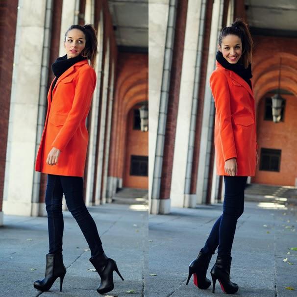 Tendencia abrigo naranja coraz n de maniqui - Como conseguir color naranja ...