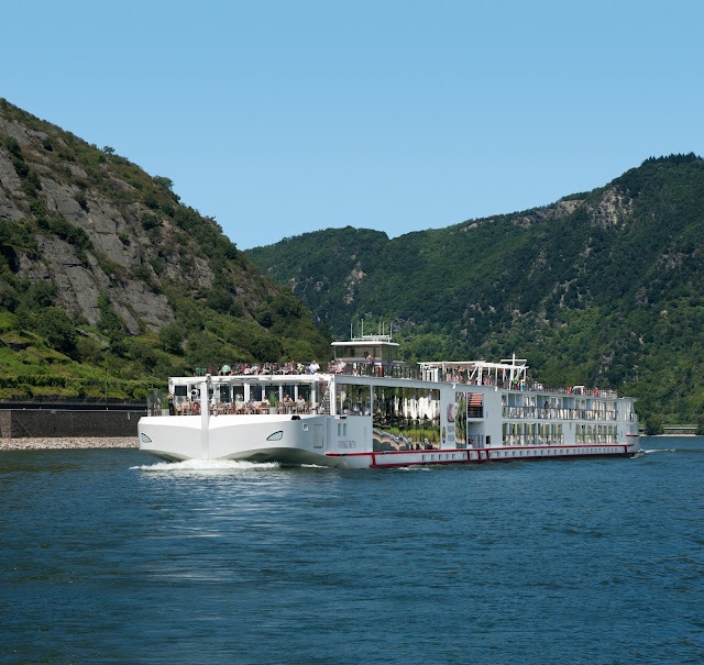The Viking Freya Longship as seen on the Rhine River in Germany. Photo: ©Viking Cruises. Unauthorized use is prohibited.