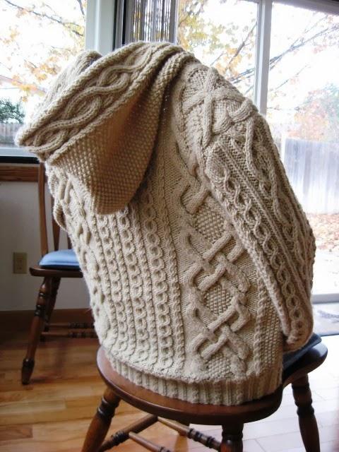 Whitney Double-X Hooded Sleeve Cardigan Sweater Coat