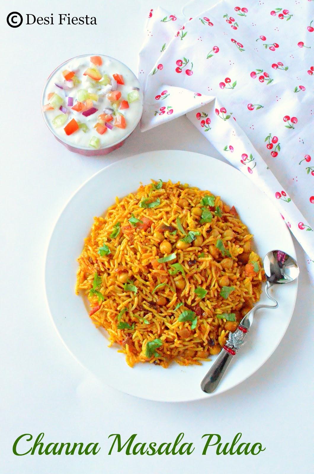 Kabuli Channa Pulao Recipe