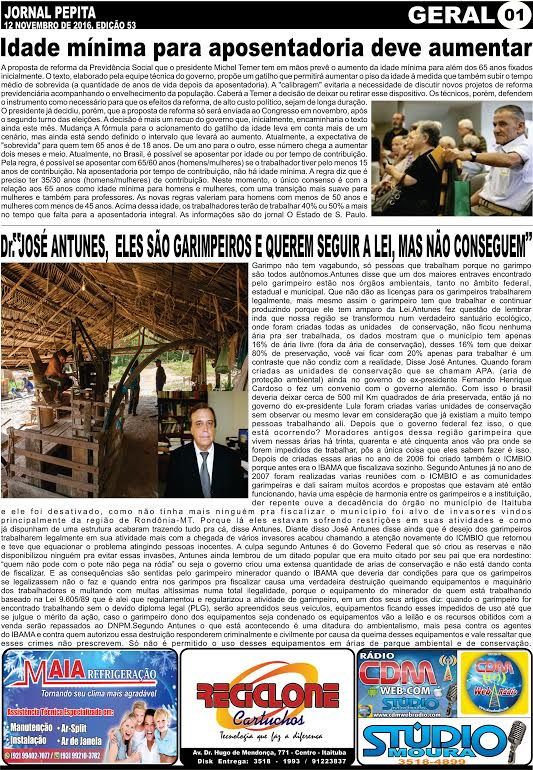 MATÉRIAS INEDITAS E EXCLUSIVAS