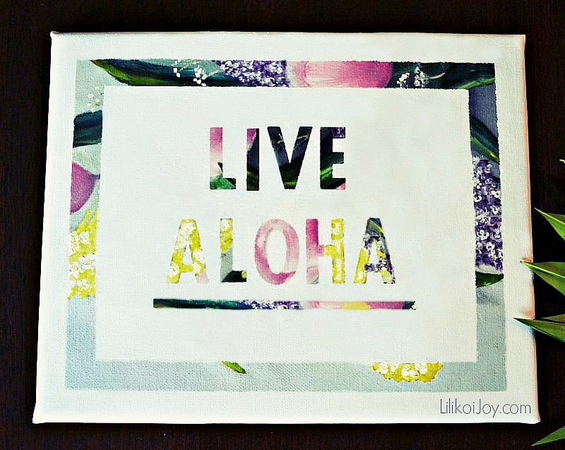 Live Aloha! Recycled Goodwill Painting Gets Two New Looks